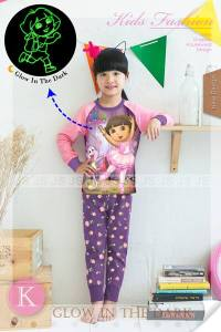 piyama dora glow in the dark 65rb 2-7th