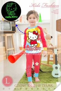 piyama hello kitty glow in the dark 665rb 2-7th